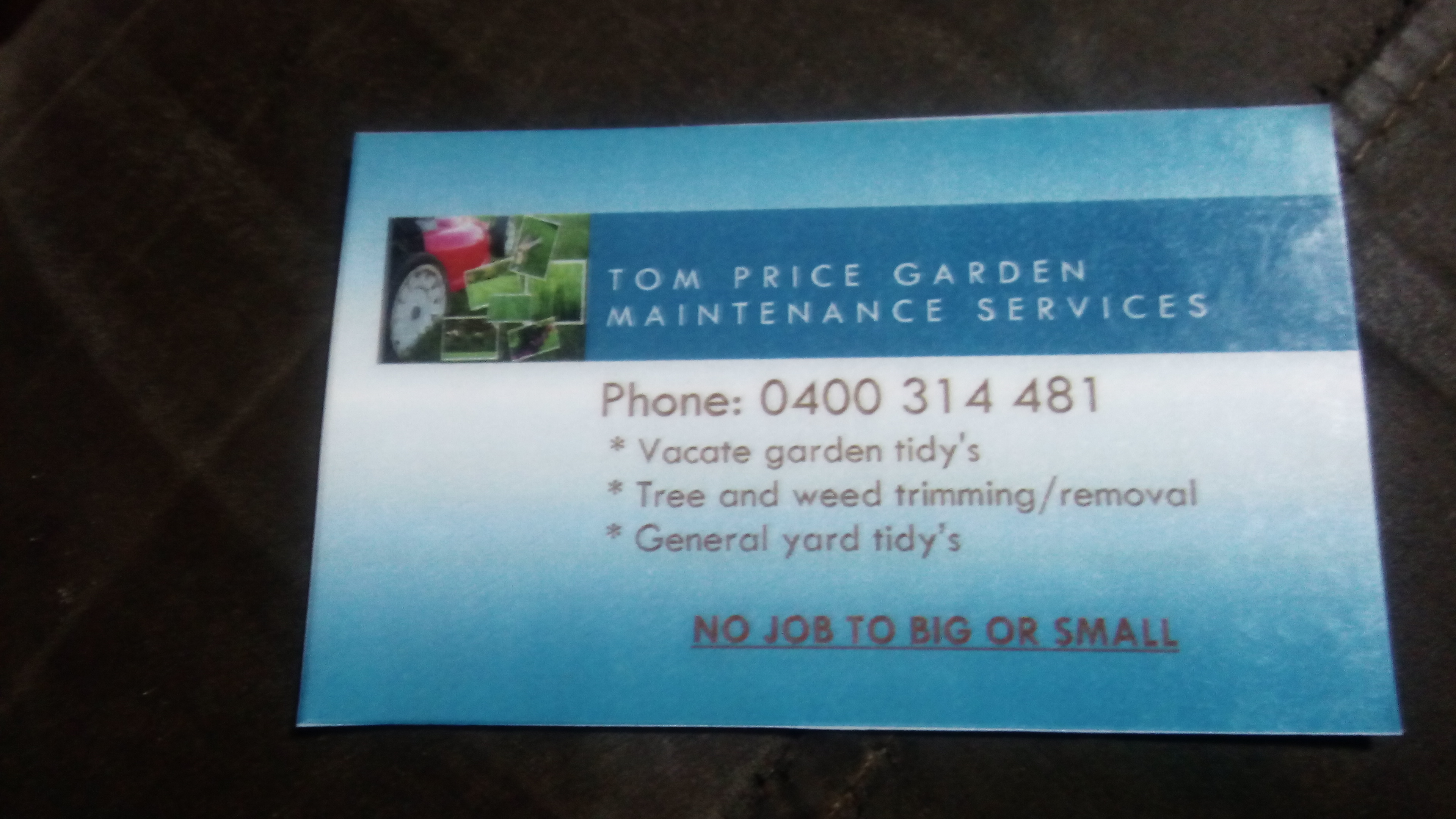 Tom Price Garden and Maintenance Service
